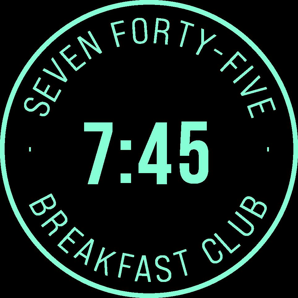 7:45 Breakfast Club Jersey networking event logo